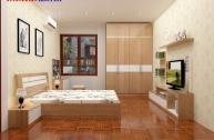 Thiết kế phòng ngủ vợ chồng công trình chị Hoa–Văn Khê...