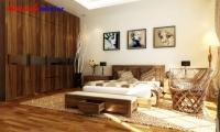 Giường ngủ gỗ óc chó BPN011