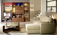 Tủ trang trí phòng khách gỗ Óc Chó TPK011