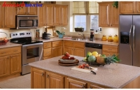 Tủ bếp gỗ sồi BTN011