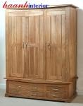 Tủ áo gỗ sồi 3 cánh TAH011