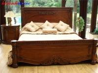 Giường ngủ đẹp gỗ Gụ GNH018