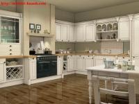 Tủ bếp gỗ sồi BTN013