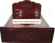 Giường ngủ giả cổ  gỗ Gụ tự nhiên cao cấp  GIC010