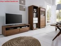 Tủ trang trí phòng khách gỗ óc chó TPK014