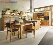 Tủ bếp tự nhiên  gỗ Sồi và Óc Chó nhập khẩu BTN015