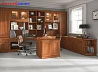 Văn phòng làm việc gỗ óc chó  nhập khẩu   (Walnut ) PLV 001