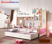 Giường tầng bé gái đáng yêu cho bé GTE016