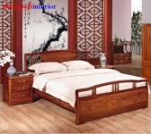 Giường gỗ tự nhiên giả cổ GIC011