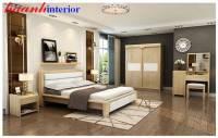 Giường ngủ hiện đại gỗ sồi cao cấp BPN019