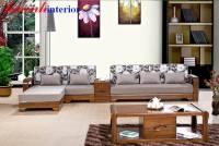 Sofa góc gỗ tự nhiên SFG018