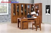 Phòng làm việc gỗ tự nhiên PLV007