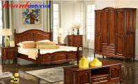 Phòng ngủ gỗ tự nhiên tân cổ điển GNC020