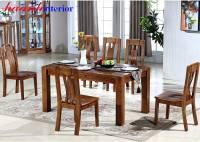 Bàn ghế ăn gỗ tự nhiên hiện đại tiện lợi và sang trọng BGA032