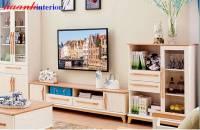Tủ kệ trang trí phòng khách gỗ công nghiệp hiện đại TPK018