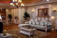Sofa gỗ cổ điển phòng khách tinh tế và sang trọng PKCD009