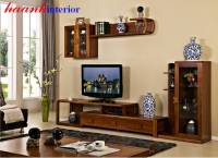 Phòng khách gỗ công nghiệp hiện đại TPK019