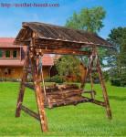 Đồ gỗ ngoài ngoài trời, ghế sích đu sân vườn GNT001