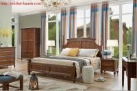 Giường ngủ tân cổ điển gỗ sồi GNC024
