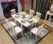 Bàn ghế ăn gỗ tự nhiên hiện đại BGA034