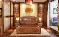 Giường gỗ tự nhiên giả cổ GIC013