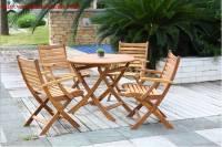 Bàn ghế ngoài trời gỗ tự nhiên GNT004