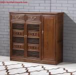 Tủ giầy giả cổ gỗ tự nhiên. TGC002