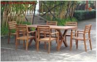 Bàn ghế sân vườn gỗ tự nhiên NTG010