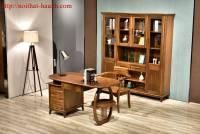 Phòng làm việc gỗ tự nhiên óc chó ( Walnut ) PLVH007