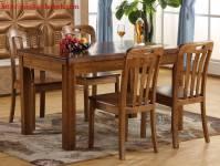 Bàn ghế ăn gỗ sồi tự nhiên BGA036