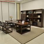 Bàn ghế phòng lãnh đạo gỗ tự nhiên PGD012