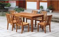 Bàn ghế ngoài trời gỗ sồi tự nhiên NTG011