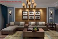 Ghế sofa gỗ phòng khách hiện đại SFG024