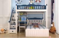 Giường tầng gỗ tự nhiên cho bé trai PCB 004