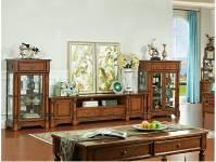 Tủ bầy phòng khách gỗ tự nhiên tân cổ điển.TCD 009