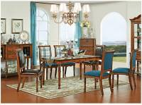 Bàn ghế ăn gỗ tự nhiên tân cổ điển châu âu.BGK 001