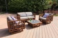 Bàn ghế sofa gỗ tự nhiên ngoài trời. SNT 007