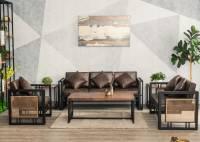 Sofa sắt kết hợp gỗ tự nhiên cá tính và sang trọng.SFS 001