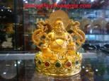 Tượng Phật Di Lặc Ngồi Mạ Vàng- MSP7002