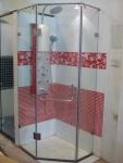 Vách tắm kính 3 tấm vát góc