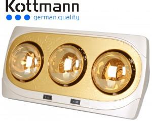 Đèn sưởi nhà tắm Kottmann 3 bóng K3B-NV