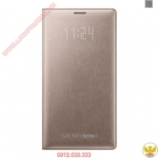 Bao-da-Samsung-Galaxy-Note-4-Led-wallet-flip-vang-gold-champage