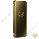 Clear View Cover Sam Sung Galaxy S6 EDGE bao da chính hãng ( Vàng Gold )
