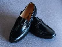 Giày Lười Da Bóng mờ