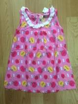 váy lanh quả táo, chất lanh lụa, size 1-6