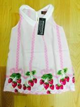 váy lanh lala quả dâu, chất lanh đẹp, size 3-8