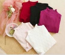 áo len bg cổ lọ, chất len mềm đẹp, size 2-6 ri 10 trộn mầu