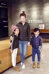 áo khoác phối sọc tay, hàng lông vụ cực nhẹ, ấm, các mẹ bon chen đc, size 90-160