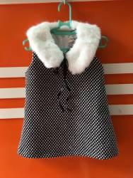 váy dạ cổ lông, chất dạ dầy, mềm, size 1-6