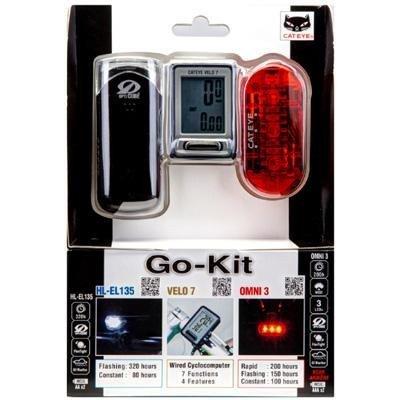 CatEye Go-Kit HL-EL135/TL-LD135/CC-VL520 Combo Kit